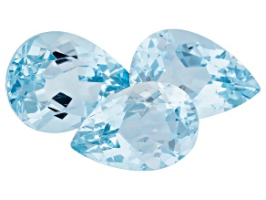 Aquamarine Pear Shape Set 4.26ctw