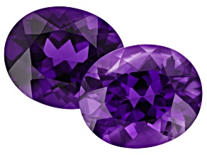 Amethyst 12x10mm Oval Matched Pair 7.75ctw