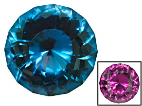 Alexandrite Color Change Lab Created 10mm Round Custom Cut 4.00ct
