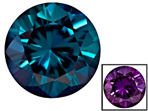 Alexandrite Color Change Lab Created 9mm Round Brilliant Cut 3.00ct