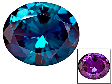 Alexandrite Color Change Lab Created 12x10mm Oval Diamond Cut 4.50ct