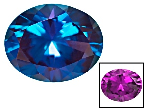 Alexandrite Color Change Lab Created 10x8mm Oval 2.50ct
