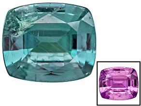 Alexandrite Color Change Rectangular Cushion .20ct