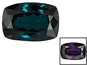 Blue Garnet Color Change Rectangular Cushion 2.25ct
