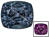 Blue Garnet Color Change Rectangular Cushion 1.25ct