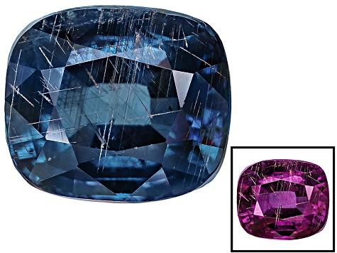 Blue Garnet Color Change 7.5x6.4mm Rectangular Cushion 2.30ct