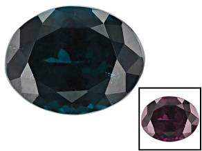 Blue Garnet Color Change 9.46x7.46x5.94mm Oval 3.55ct