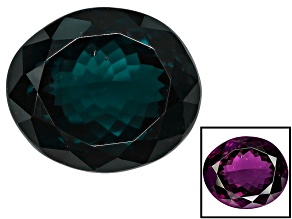 Blue Garnet Color Change 9.87x8.36mm Oval 4.85ct