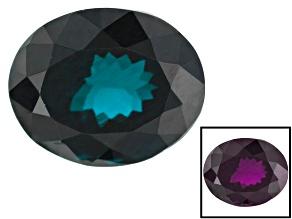 Blue Garnet Color Change 9.67x7.92x6.04mm Oval 4.16ct