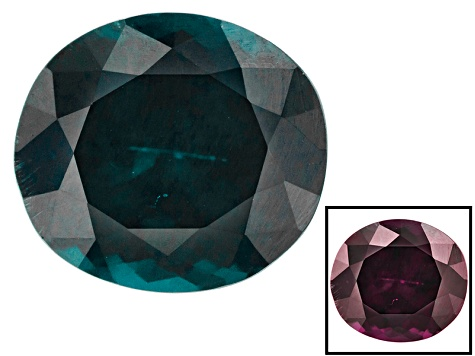 Blue Garnet Color Change 9.63x8.61x5.94mm Oval  4.23ct