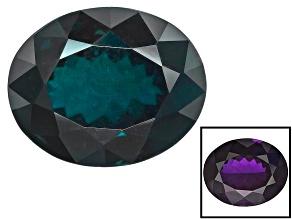 Blue Garnet Color Change 11.12x8.95x6.5mm Oval 5.96ct
