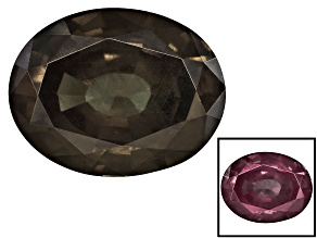Garnet Color Change 10.61x8.24x5.56mm Oval Mixed Step Cut 3.98ct
