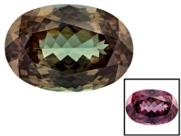 Picture of Garnet Color Change 12.98x8.85x5.64mm Oval 5.45ct