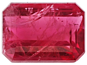 Bixbite or Red Beryl MM Varies Emerald Cut .13ct