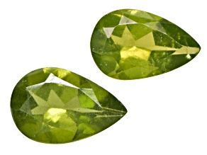 Vesuvianite 6x4mm Pear Shape Set .80ctw
