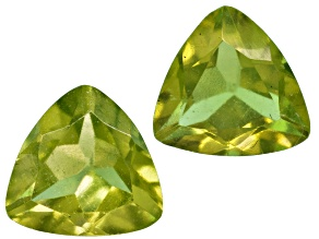 Vesuvianite 4.5mm Trillion Set .60ctw