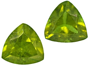 Vesuvianite 4mm Trillion Set .50ctw