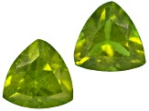 Vesuvianite 4mm Trillion Set .50ctw