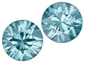 Blue Zircon 5mm Round 1.00ctw Set Of 2