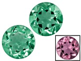 Zandrite Color Change 6mm Round Matched Pair 1.45ctw