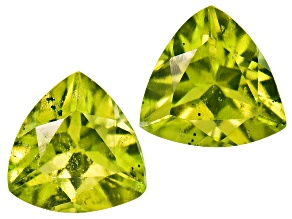 Vesuvianite 5mm Trillion Set .80ctw
