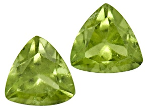 Vesuvianite 4.5mm Trillion Set .60ctw