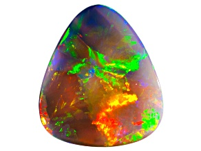 Black Opal 13.81x12.13mm Free Form Cabochon 3.09ct