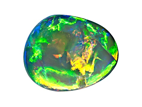 Black Opal 8x6.5mm Free Form Cabochon 1.34ct