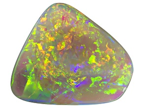 Black Opal 12.5x11.5mm Free Form Cabochon 4.03ct