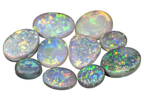 Black Opal Mixed Shape Cabochon Set 8.30ctw