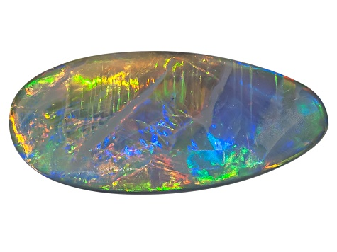 Black Opal Free Form Cabochon .75ct