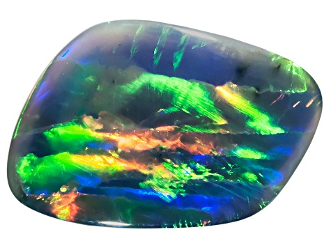 Black Opal 18.5x12mm Free Form Cabochon 6.01ct