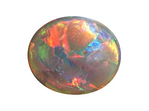 Black Opal 15x12.7mm Oval Cabochon 5.40ct