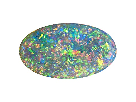 Black Opal 16x9.2mm Oval Cabocon 3.17ct