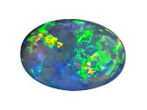 Black Opal 12x8mm Oval Cabochon 2.66ct