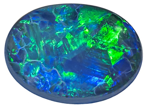 Black Opal 10.5x7.5mm Oval Cabochon 1.94ct