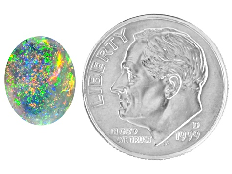 Multicolor Black Opal 11x8.5mm Oval Cabochon 2.30ct