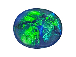 Black Opal 12.5x10.5mm Oval Cabochon 3.47ct
