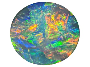 Black Opal 12.05 x 11.07mm Oval Cabochon 4.33ct