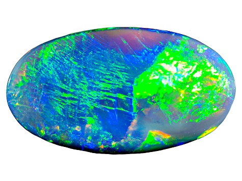 Black Opal 19.5x10.5mm Oval Cabochon 6.45ct