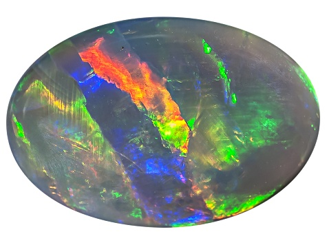 Black Opal 13x9mm Oval Cabochon 3.16ct