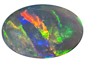Black Opal 13x9mm Oval Cabochon 3.16ct