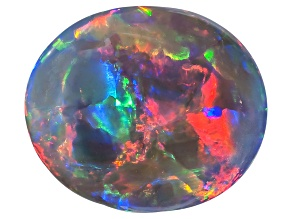 Black Opal 9.13x7.88mm Oval Cabochon 2.07ct