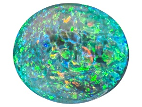 Black Opal 9.38x8.16mm Oval Cabochon 2.00ct