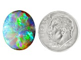 Black Opal 17.12x14.02mm Oval Cabochon 8.67ct