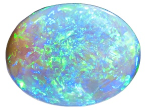 Black Opal 15.85x12.07mm Oval Cabochon 8.08ct