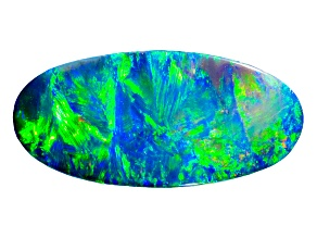 Black Opal 19.77x9.35mm Oval Cabochon 3.79ct