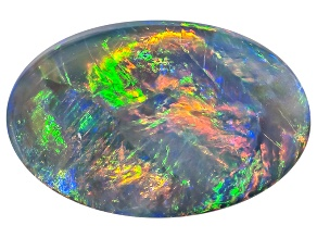 Black Opal 11x7mm Oval Cabochon 2.04ct