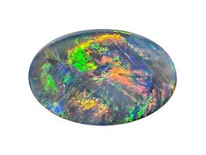 Black Opal 11x7mm Oval Cabochon 2.04ct