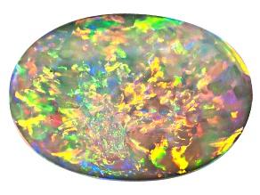 Black Opal Oval Cabochon 1.10ct